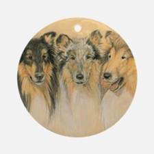 Collie Adults Round Ornament