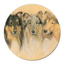 Collie Adults Round Car Magnet