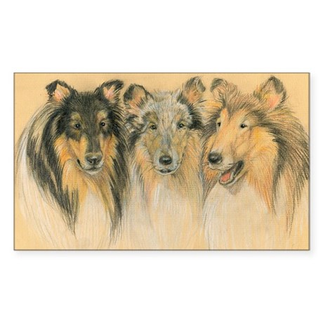 Collie Adults Sticker (Rectangle)