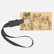 Collie Puppies Luggage Tag