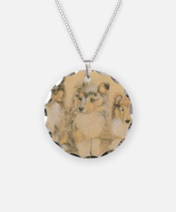 Collie Puppies Necklace