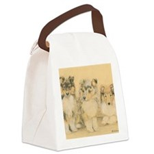 Collie Puppies Canvas Lunch Bag