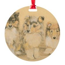Collie Puppies Ornament