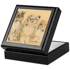 Collie Puppies Keepsake Box