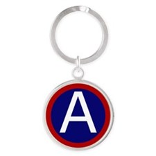 3rd Army - Central - USARCENT Round Keychain