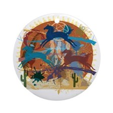 PonyAbstract Round Ornament