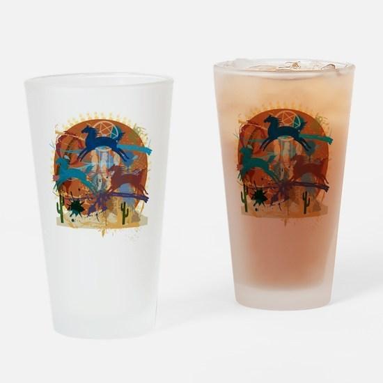 PonyAbstract Drinking Glass