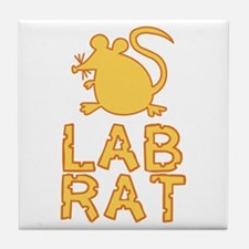 Cheese Lab Rat Tile Coaster