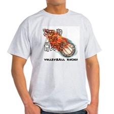 Turn up the heat Ash Grey T-Shirt