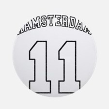 Hamsterdam11-black Round Ornament