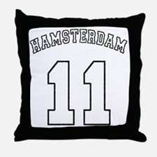 Hamsterdam11-black Throw Pillow