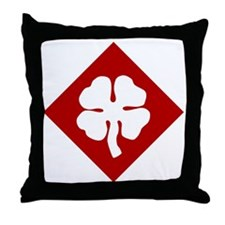 4th Army Throw Pillow