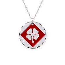 4th Army Necklace Circle Charm