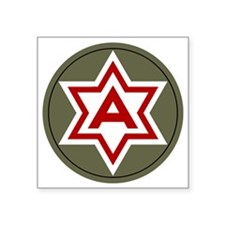 "6th Army Square Sticker 3"" x 3"""