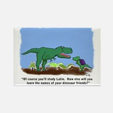 T-Rex learns Latin. Rectangle Magnet