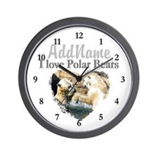 LOVE POLAR BEARS Wall Clock