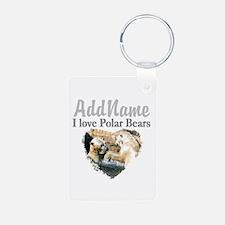 LOVE POLAR BEARS Aluminum Photo Keychain