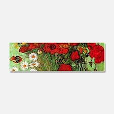 Van Gogh Poppies Wraparound Car Magnet 10 x 3