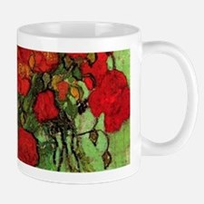 Van Gogh Poppies Wraparound Small Mugs