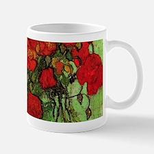 Van Gogh Poppies Wraparound Small Mugs