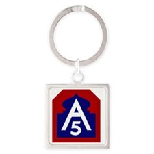 5th Army - North - USARNORTH Square Keychain