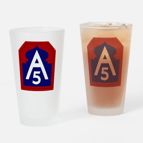 5th Army - North - USARNORTH Drinking Glass