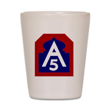 5th Army - North - USARNORTH Shot Glass