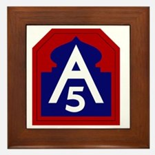 5th Army - North - USARNORTH Framed Tile