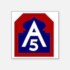 """5th Army - North - USARNORT Square Sticker 3"""" x 3"""""""