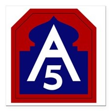 "5th Army - North - USARN Square Car Magnet 3"" x 3"""