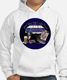 Bernese Share A Beer round Hoodie