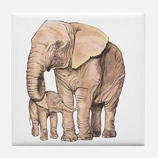 Mother and Child Tile Coaster