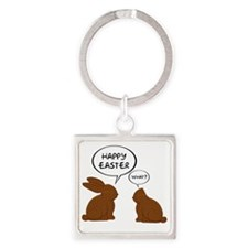 HappyEasterWhat Square Keychain
