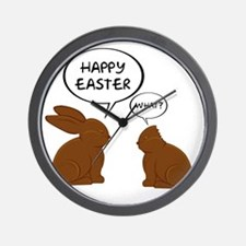 HappyEasterWhat Wall Clock