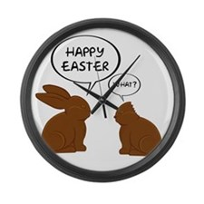 HappyEasterWhat Large Wall Clock