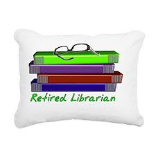 Retired Libraian Rectangular Canvas Pillow