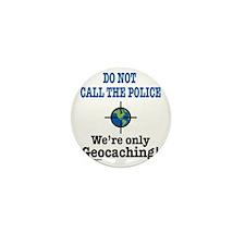 Geocach-white Mini Button