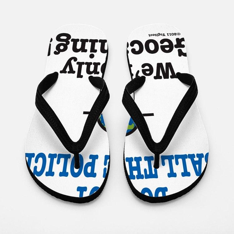Geocach-white Flip Flops