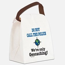 Geocach-white Canvas Lunch Bag