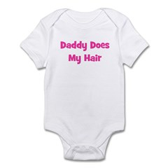Daddy Does My Hair - Pink Infant Bodysuit