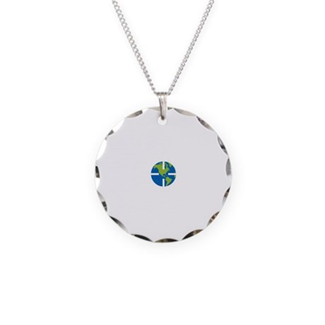Geocach-dark Necklace Circle Charm