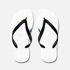 Geocach-dark Flip Flops