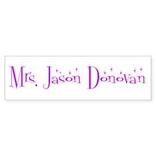 Mrs. Jason Donovan Bumper Car Sticker