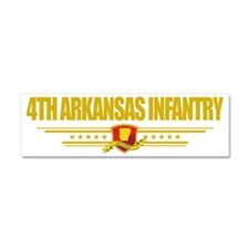 4th Arkansas Infantry (Flag 10)  Car Magnet 10 x 3