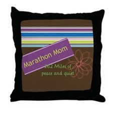 marathonmom4 Throw Pillow