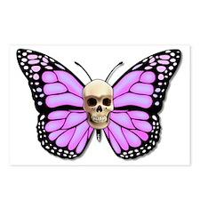Butterflyskull pink Postcards (Package of 8)