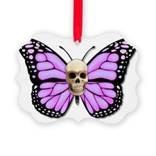 Butterflyskull pink Ornament