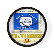 6th  7th Arkansas Infantry (Flag 10) Wall Clock