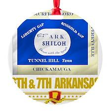 6th  7th Arkansas Infantry (Flag 10 Ornament