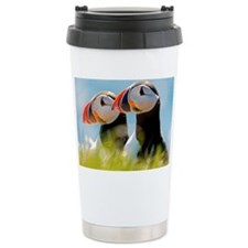 Puffin Pair 12.1x6.1 Thermos Mug